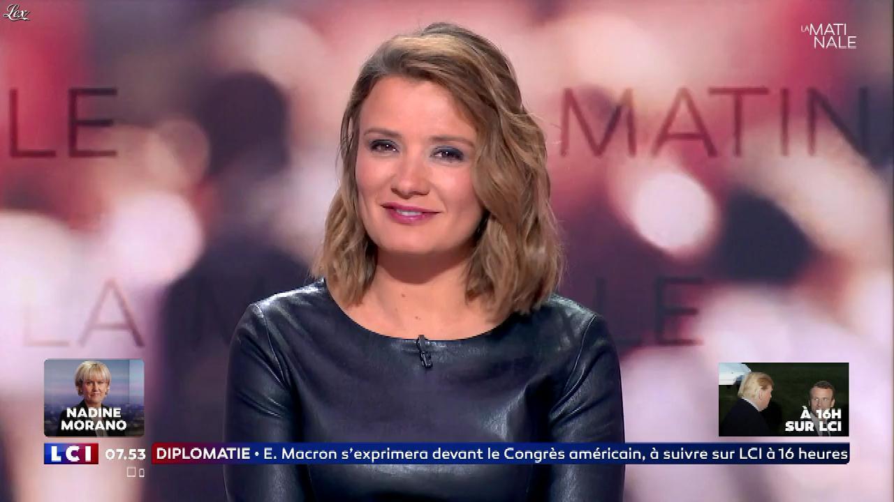 Pascale De La Tour Du Pin dans la Matinale. Diffusé à la télévision le 25/04/18.