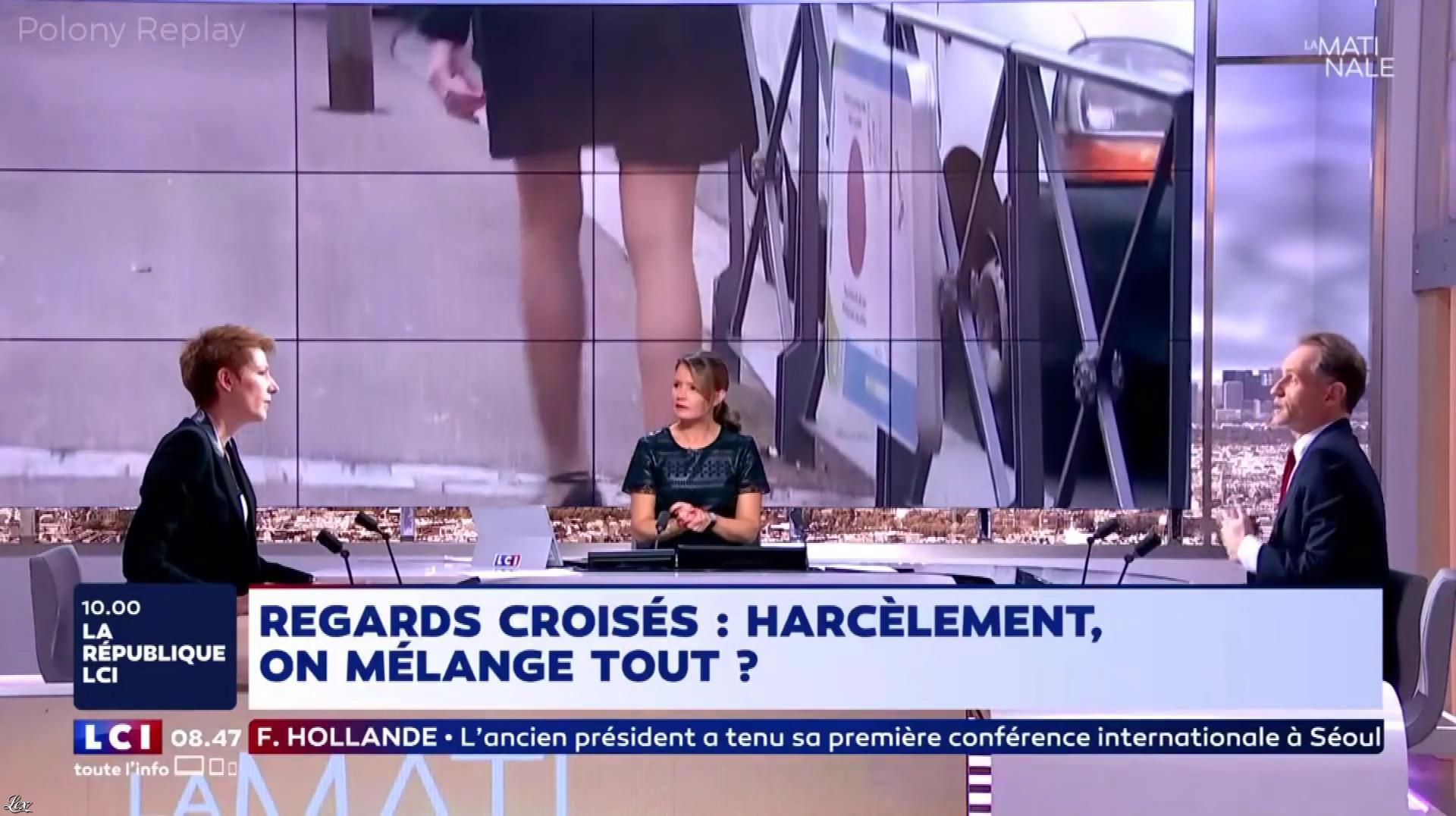 Pascale De La Tour Du Pin et Natacha Polony dans la Matinale de LCI. Diffusé à la télévision le 17/10/17.