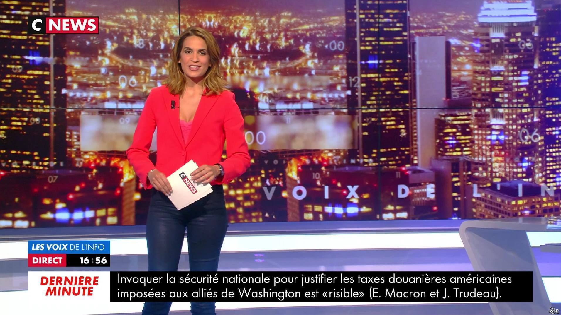 Sonia Mabrouk dans les Voix de l'info. Diffusé à la télévision le 07/06/18.