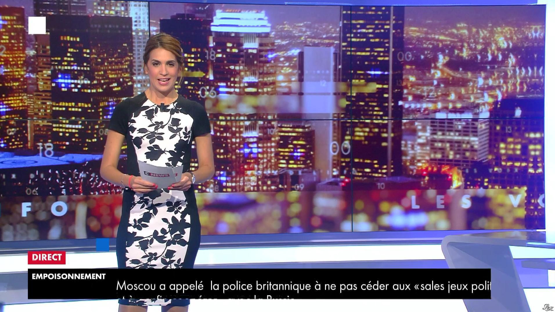 Sonia Mabrouk dans les Voix de l'Info. Diffusé à la télévision le 05/07/18.