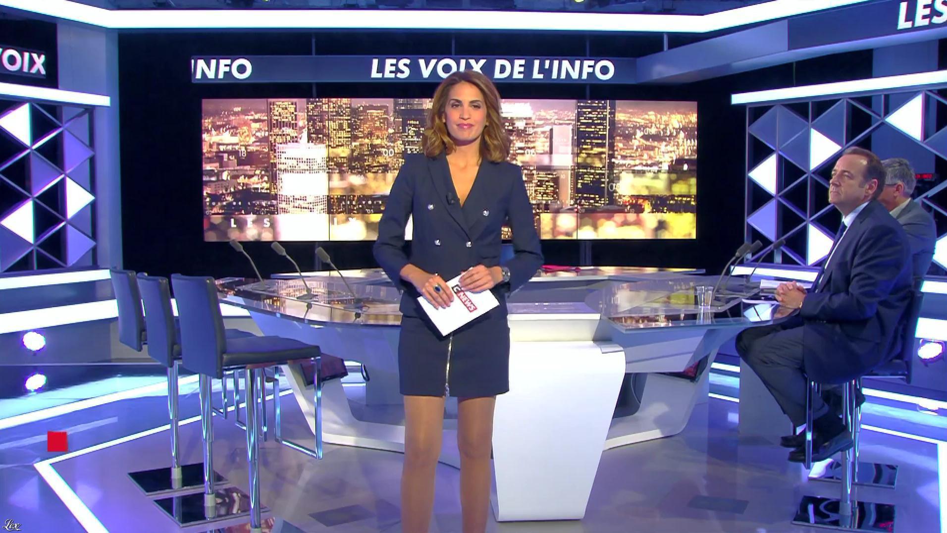 Sonia Mabrouk dans les Voix de l'Info. Diffusé à la télévision le 12/09/17.