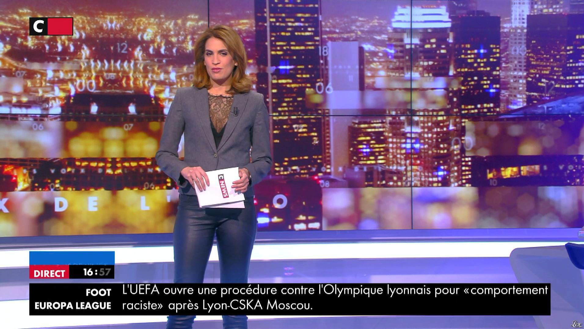 Sonia Mabrouk dans les Voix de l'Info. Diffusé à la télévision le 19/03/18.