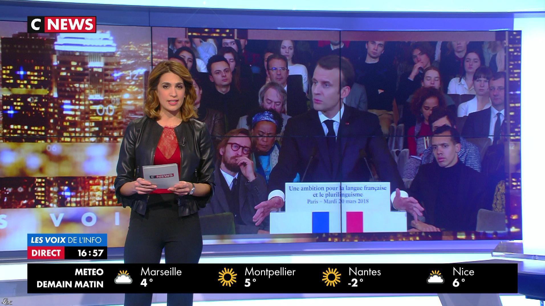 Sonia Mabrouk dans les Voix de l'Info. Diffusé à la télévision le 20/03/18.