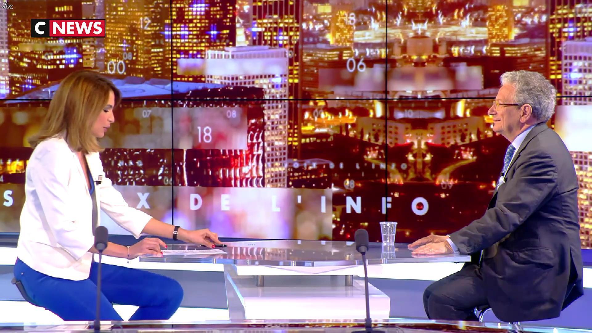 Sonia Mabrouk dans les Voix de l'Info. Diffusé à la télévision le 23/04/18.