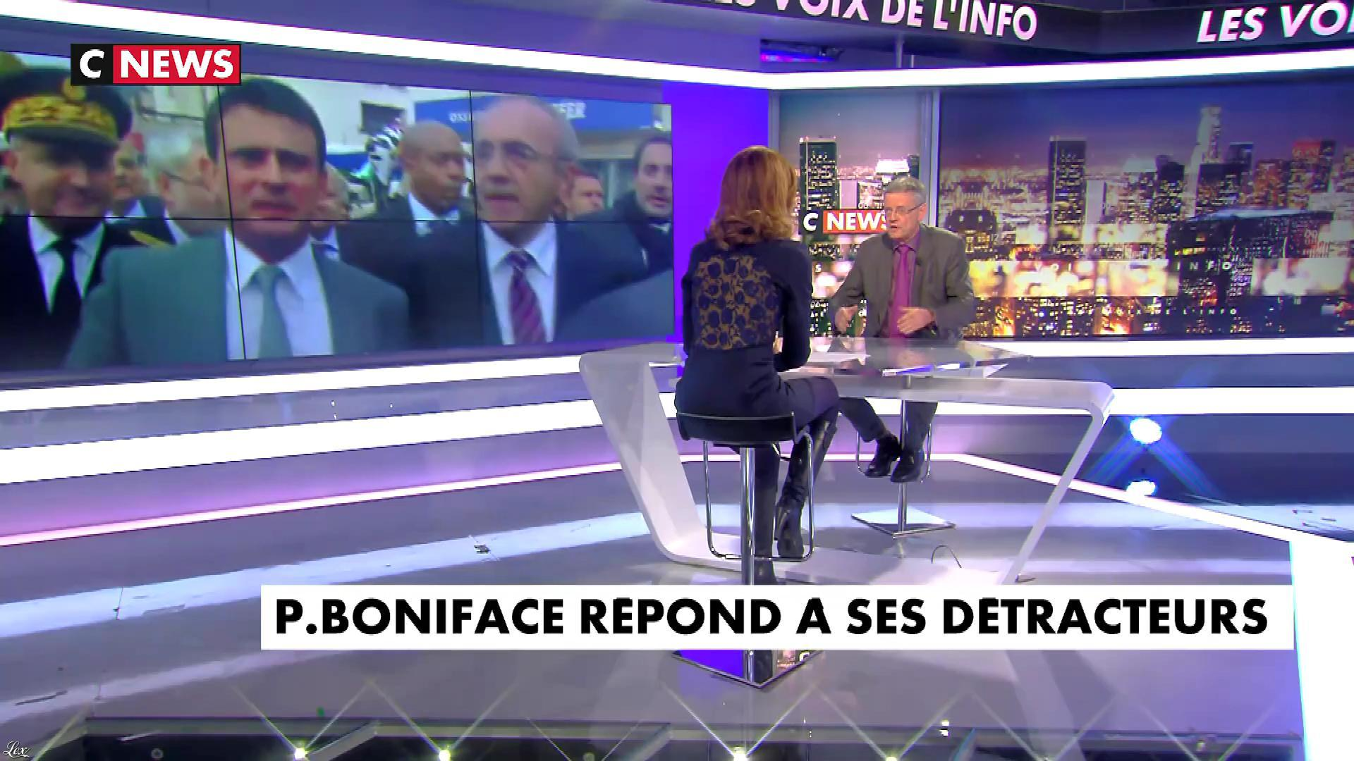 Sonia Mabrouk dans les Voix de l'Info. Diffusé à la télévision le 24/01/18.