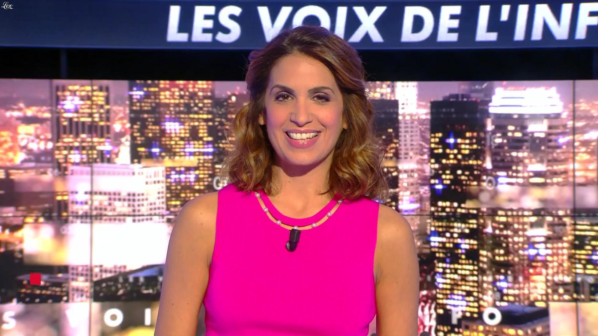 Sonia Mabrouk dans les Voix de l'Info. Diffusé à la télévision le 25/09/17.