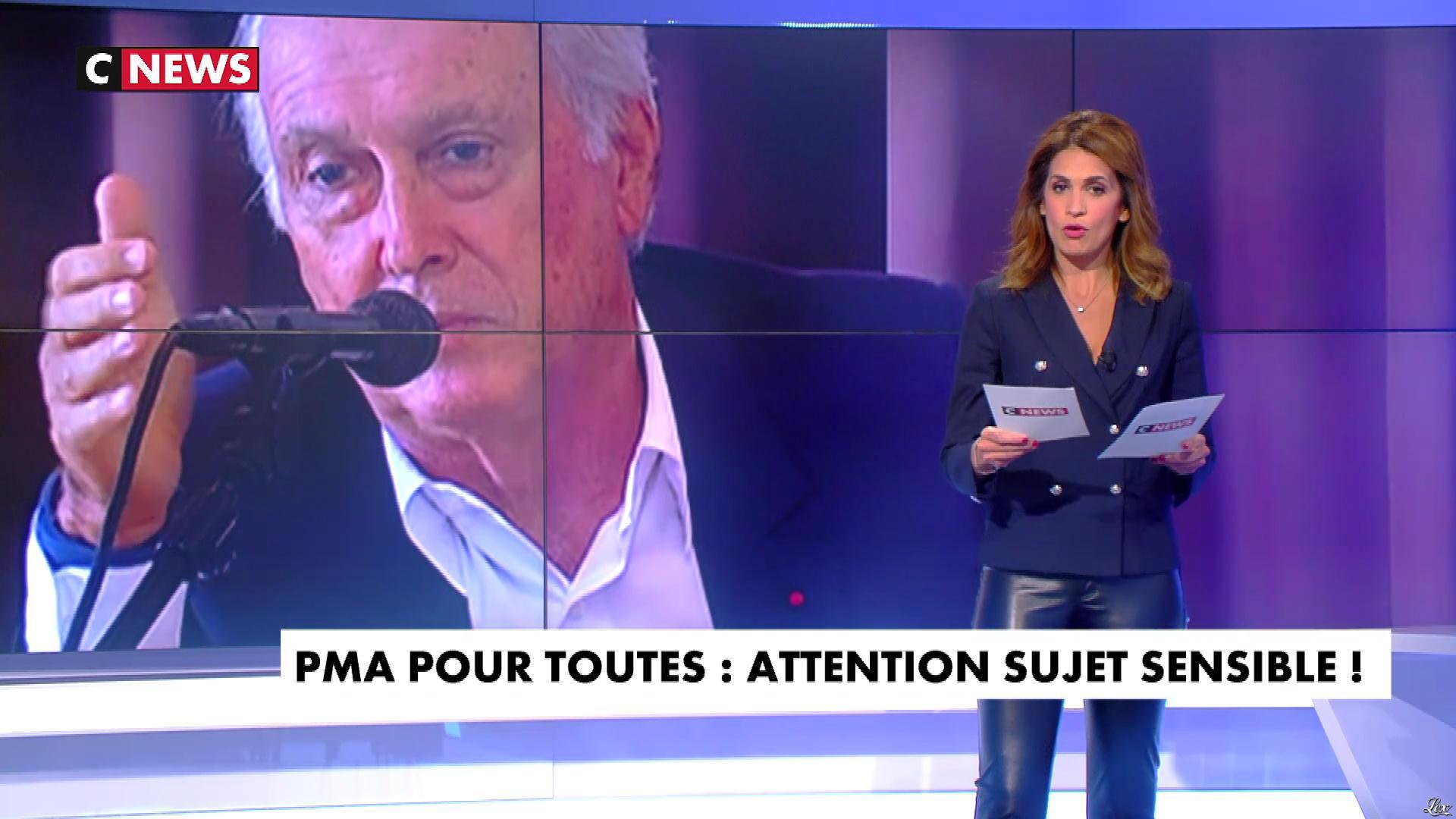 Sonia Mabrouk dans les Voix de l'Info. Diffusé à la télévision le 25/09/18.