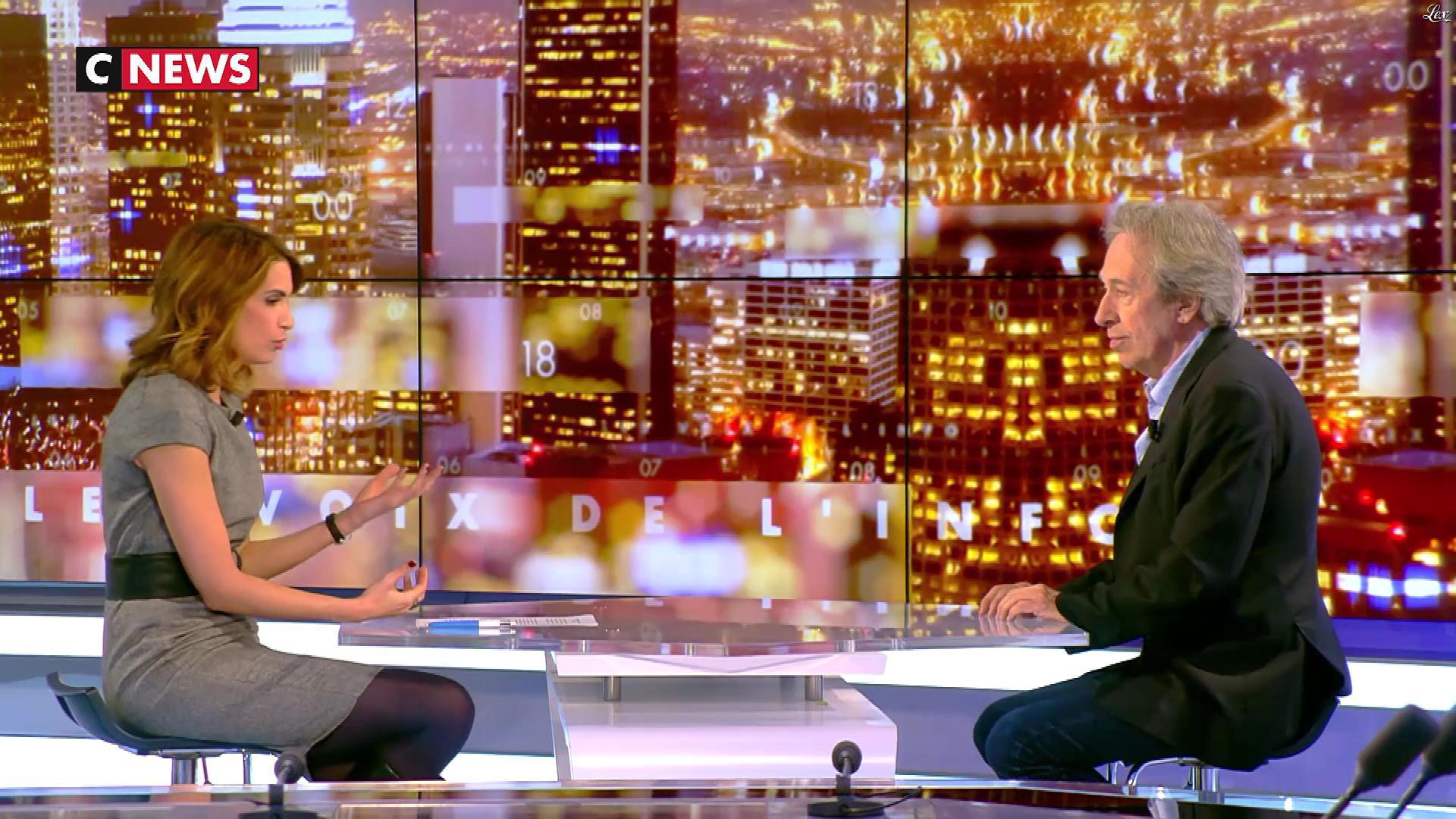 Sonia Mabrouk dans les Voix de l'Info. Diffusé à la télévision le 26/03/18.
