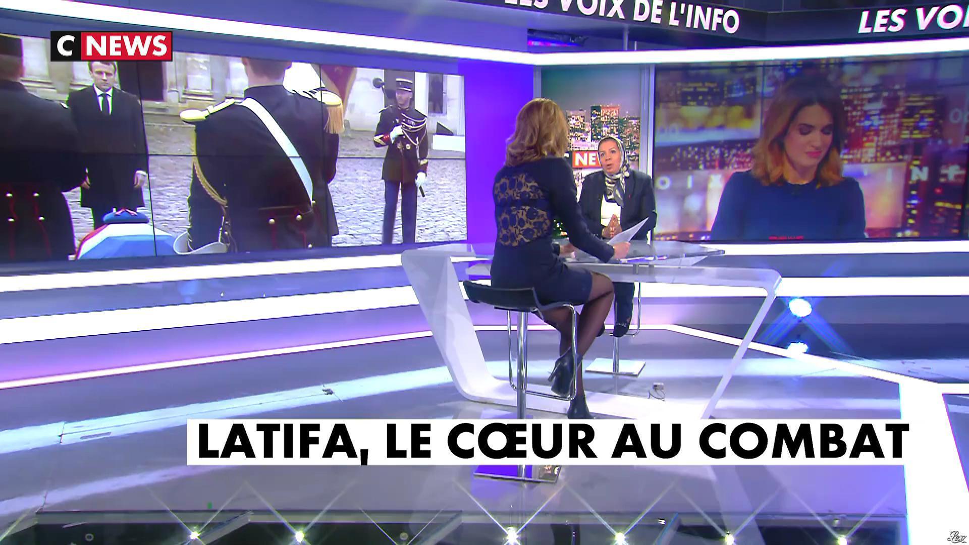 Sonia Mabrouk dans les Voix de l'Info. Diffusé à la télévision le 28/03/18.
