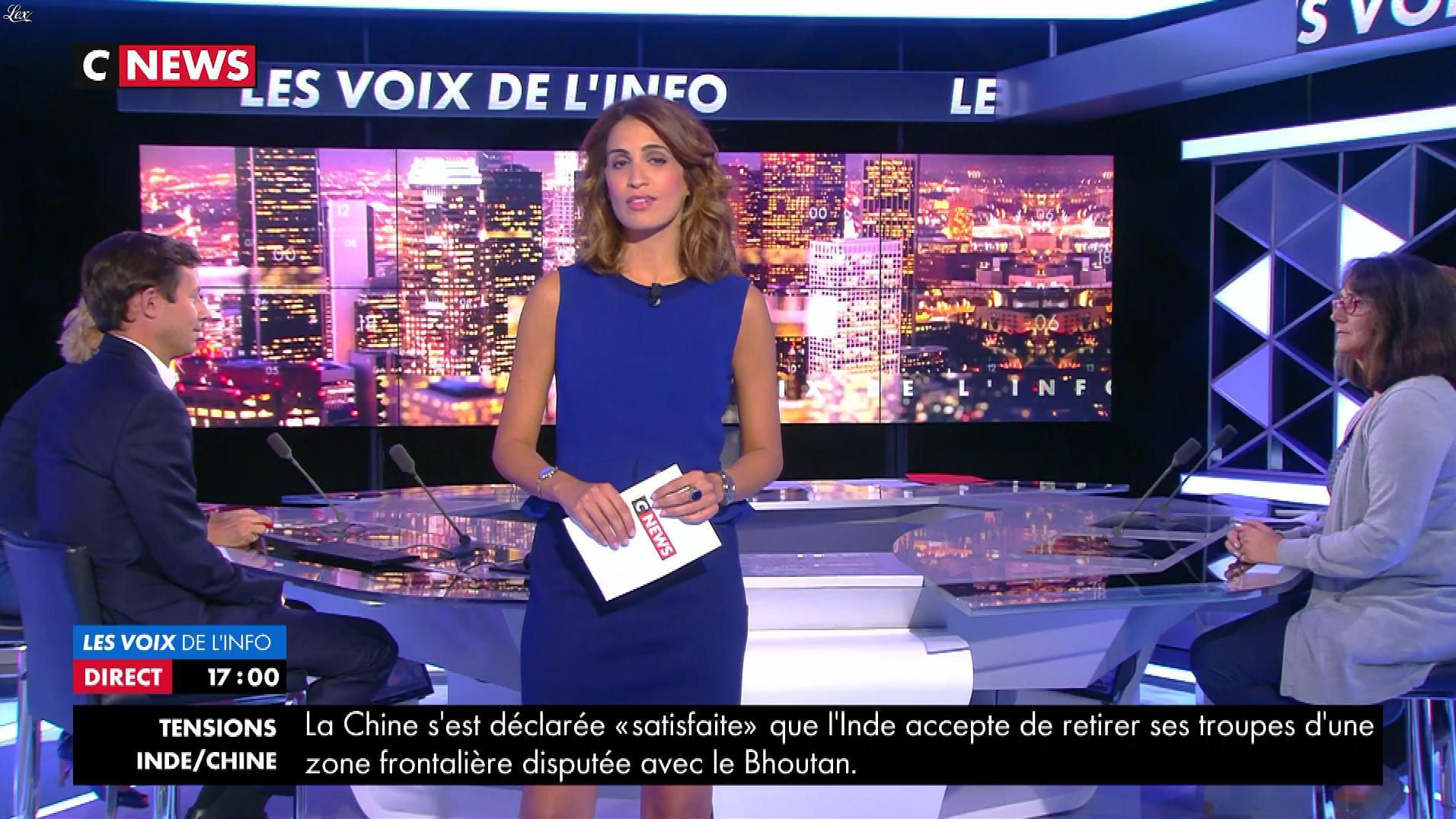 Sonia Mabrouk dans les Voix de l'Info. Diffusé à la télévision le 28/08/17.