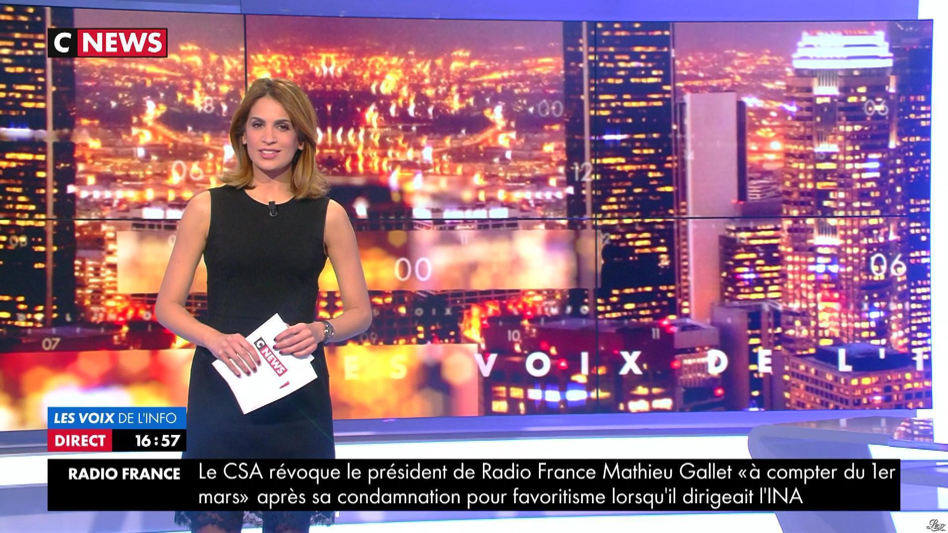 Sonia Mabrouk dans les Voix de l'Info. Diffusé à la télévision le 31/01/18.