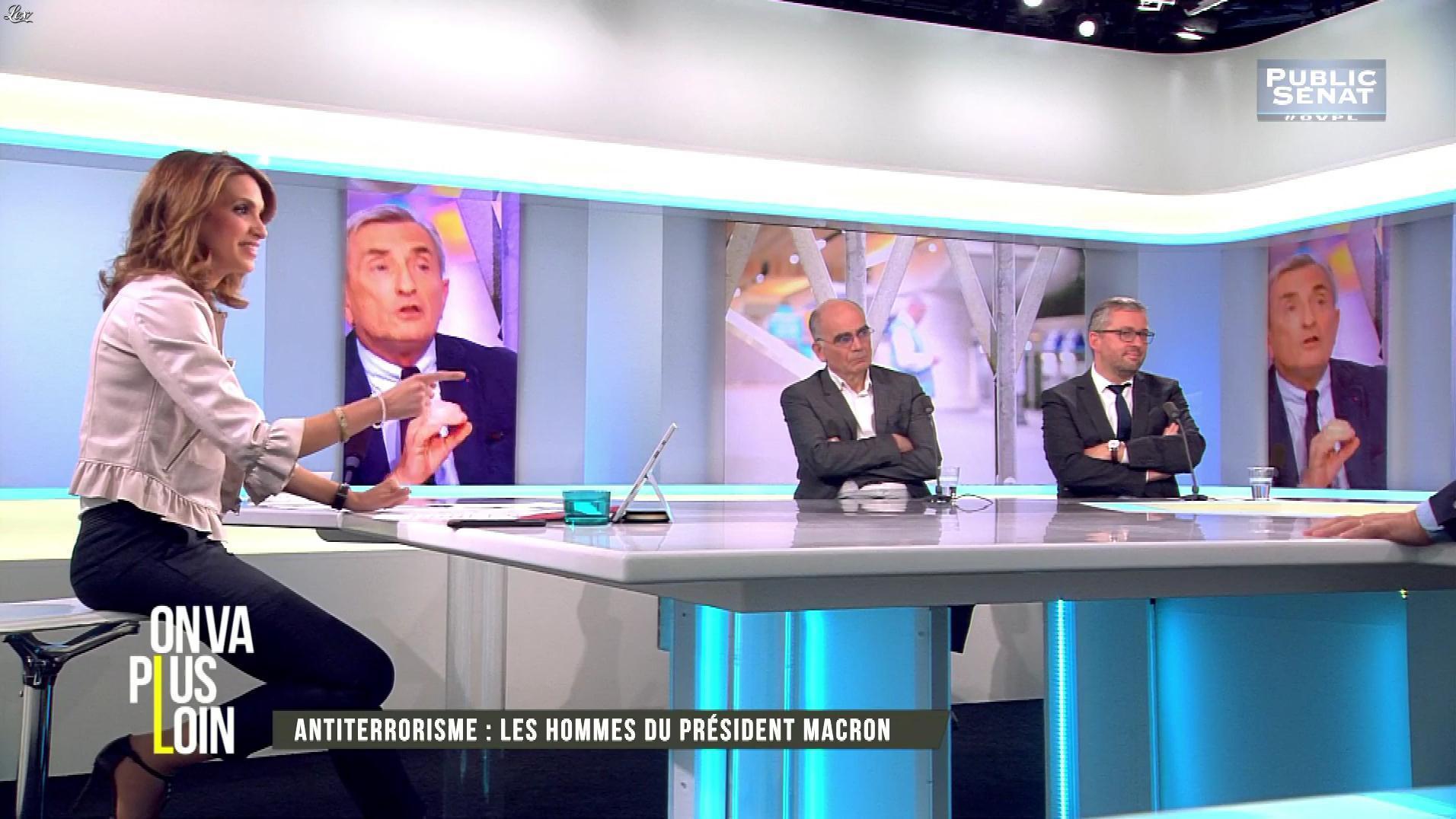 Sonia Mabrouk dans On Va Plus Loin. Diffusé à la télévision le 07/06/17.