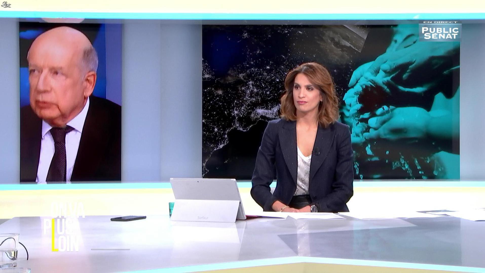 Sonia Mabrouk dans On Va Plus Loin. Diffusé à la télévision le 14/03/17.