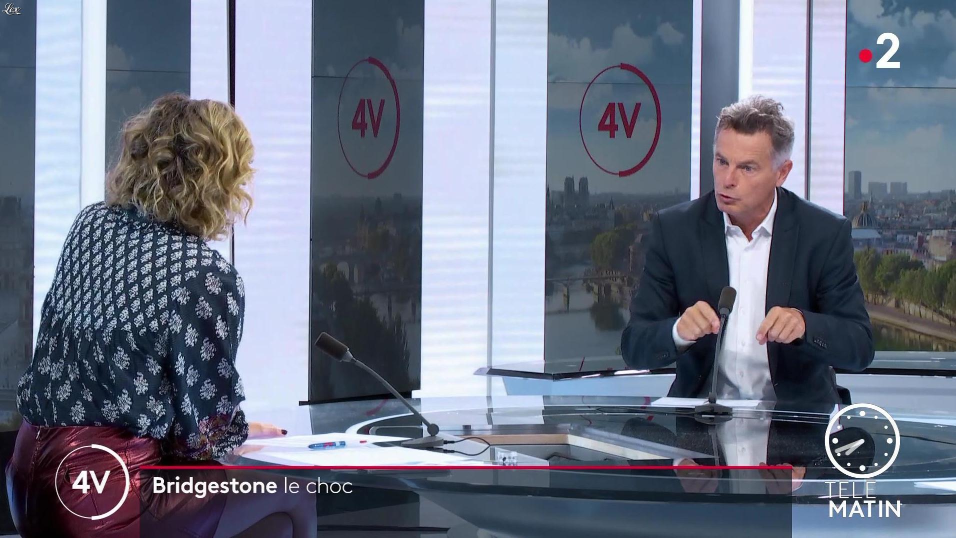 Caroline Roux dans les 4 Vérités. Diffusé à la télévision le 17/09/20.