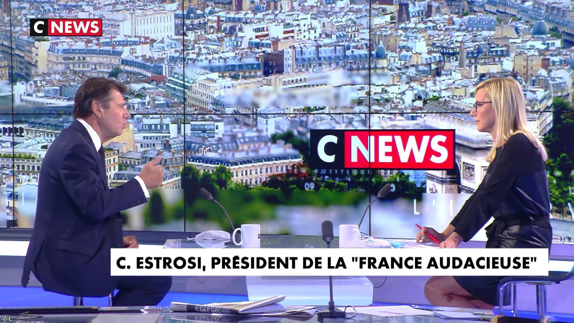 Laurence Ferrari dans l'Interview de Laurence Ferrari. Diffusé à la télévision le 23/09/20.