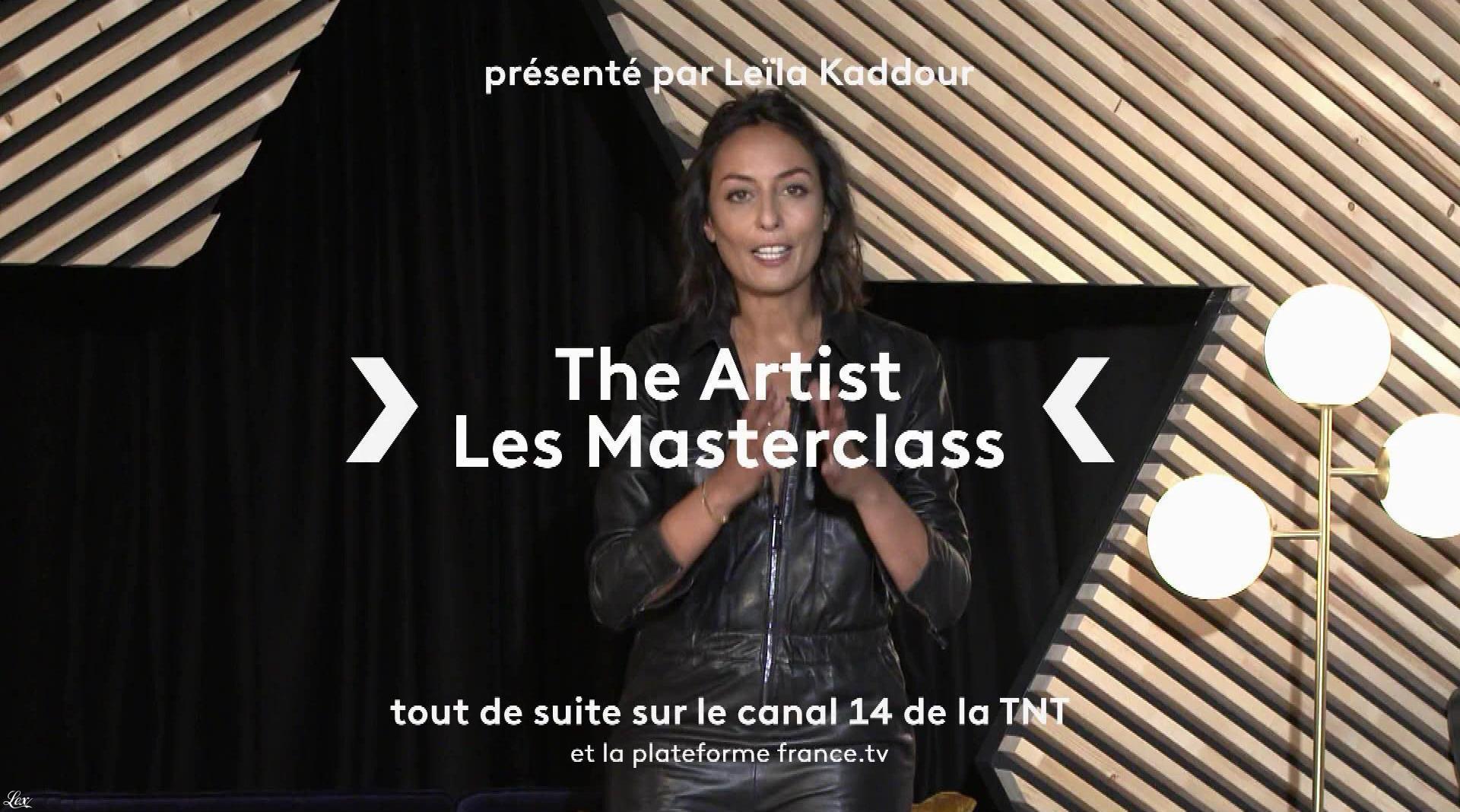 Leïla Kaddour dans The Artist les Masterclass. Diffusé à la télévision le 13/09/21.