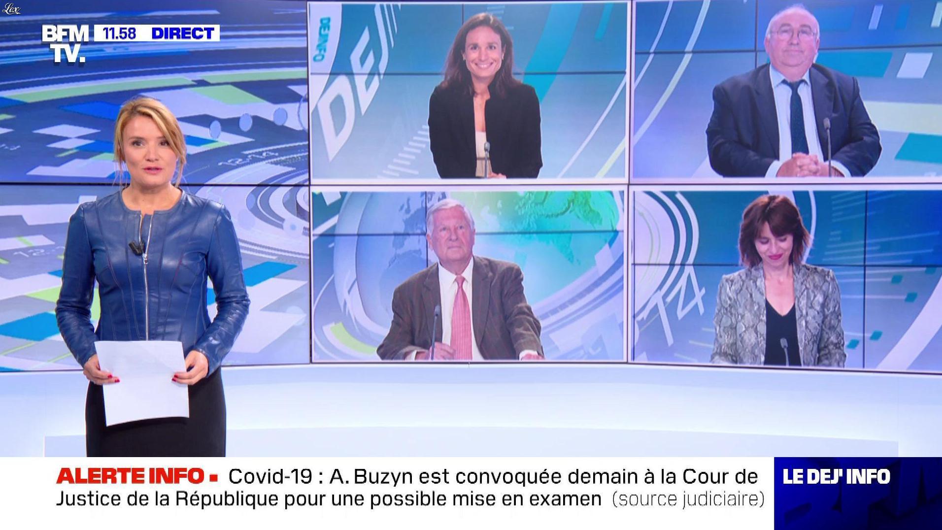 Pascale De La Tour Du Pin dans le Dej Info. Diffusé à la télévision le 09/09/21.