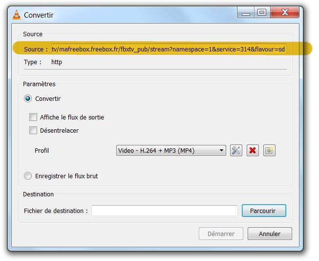 ext - programmer un enregistrement avec la freebox et vlc - 1